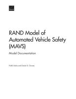 نموذج مؤسسة RAND لسلامة المركبات الممكننة: توثيق النموذج