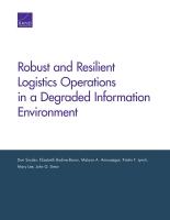 تحقيق المتانة والمرونة في العمليات اللوجيستية ضمن بيئة معلومات متدهورة