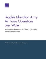 جيش التحرير الشعبي الصيني عمليات قواته الجوية فوق الماء: الحفاظ على الصلة والأهمية وسط بيئة الصين الأمنية المتبدّلة