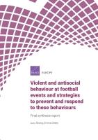 السلوكيات العنيفة والمعادية للمجتمع في مباريات كرة القدم واستراتيجيات الحد منها والتعامل معها: التقرير التجميعي النهائي